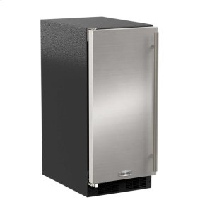 "Marvel15"" Marvel Clear Ice Machine with Arctic Illuminice Lighting - Gravity Drain - Stainless Steel Door with Left Hinge"