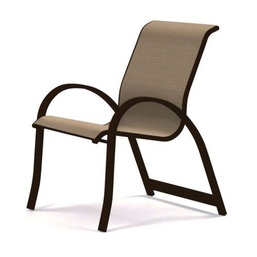 Aruba Sling Stacking Arm Chair