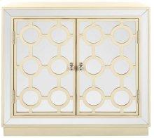 Kaia 2 Door Chest - Antique Beige / Nickel / Mirror