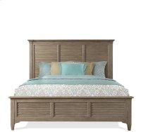 Myra Louver Bed Natural finish Product Image
