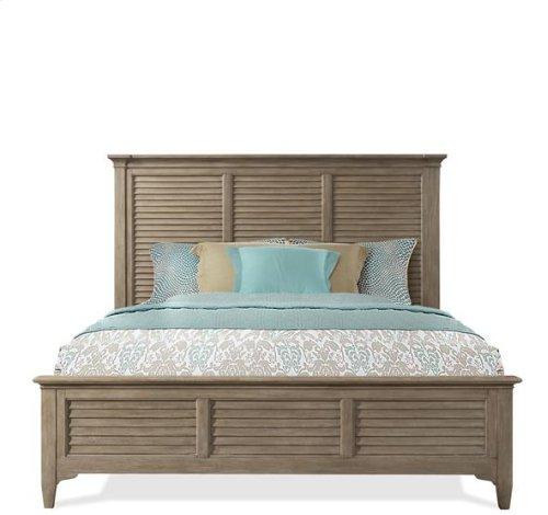 Myra King Louver Bed - Natural Finish