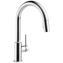 Chrome Single Handle Pull-Down Kitchen Faucet