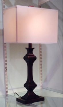 Bronze Square Fluted Lamp