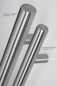 "Commercial Stainless Door Handle, 7/8"" Diameter (23073)"