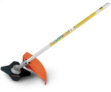 This STIHL KombiSystem brushcutter attachment features a 4-tooth blade for weeds and tough grass.