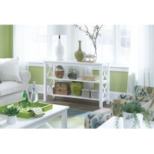 Sofa Table in Pure White