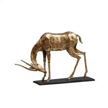 Antelope Straight Horn Statue, Gold
