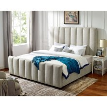 "Kenley King Headboard White 84""x62""x4"""