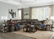Power Headrest Power Lay Flat Recl Sofa w/DDT & Ext Ottoman Product Image