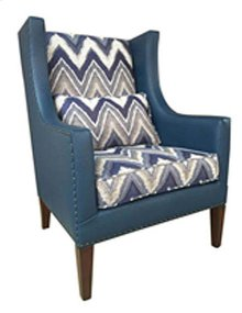 """Foray"" Blue Wing Back Chair GA"