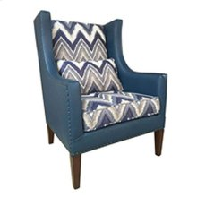 """""""Foray"""" Blue Wing Back Chair GA"""