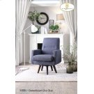 Swivel Accent Chair Blue Product Image