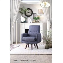 Swivel Accent Chair Blue