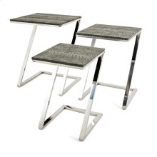 Melora Stainless Steel Tables - Set of 3