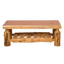 "Open Coffee Table 20"" x 40"", Natural Cedar, Standard Finish"