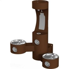 Elkay Outdoor EZH2O Bottle Filling Station Wall Mount, Bi-Level, Non-Filtered Non-Refrigerated, Brown
