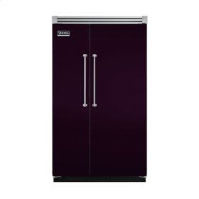"Plum 48"" Quiet Cool™ Side-by-Side Refrigerator/Freezer - VISB Tru-Flush™ (48"" wide)"