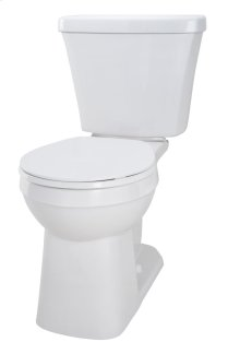 "White Avalanche Elite 1.6 Gpf 10"" Rough-in Two-piece Ergoheight Round Front Toilet"