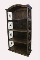 """40"""" Bookcase W/Iron Stars Medio Finish Product Image"""