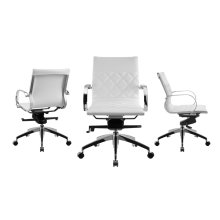 The Lider Arm White Office Chair