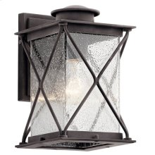 "Argyle 10.25"" 1 Light Wall Light with LED Bulbs Weathered Zinc"