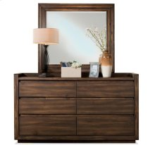 Modern Gatherings Slat Mirror Brushed Acacia finish