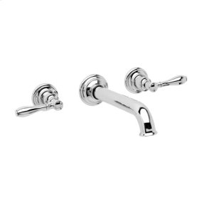 Antique-Nickel Wall Mount Lavatory Faucet