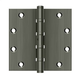 """5""""x 5"""" Square Hinges, Ball Bearings - Antique Nickel"""