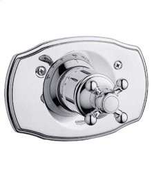 Starlight® Chrome Thermostat Trim With Cross Handle