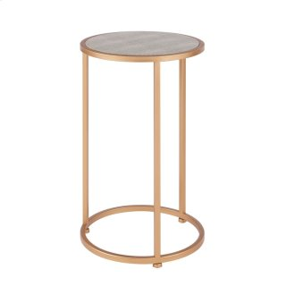 Anza Faux Shagreen Nesting End Table Set of 2, Chronicle Gray