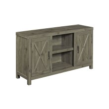 Transitional décor meets elegant design in this Spanish Gray TV stand...