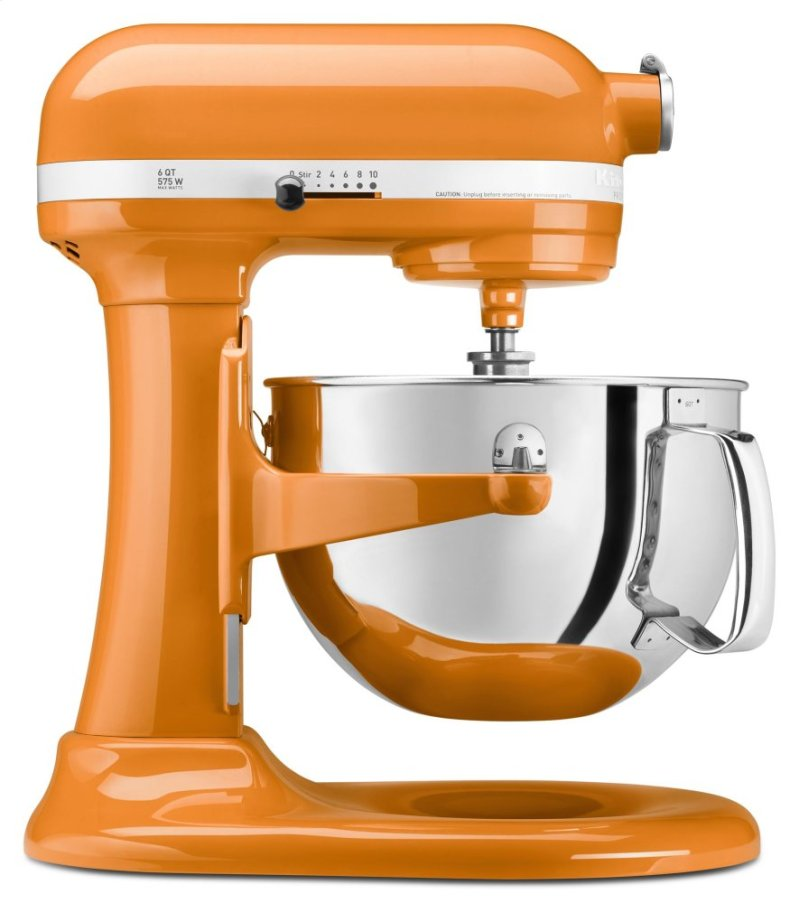 Pro 600 Series 6 Quart Bowl Lift Stand Mixer Tangerine