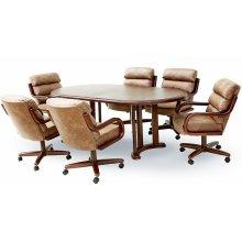 Table Base: Twin Legs (walnut)