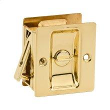 Notch Bed/Bath Pocket Door Lock - Polished Brass
