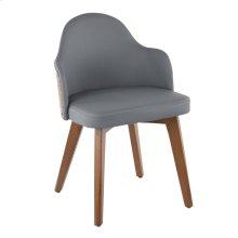 Ahoy Chair - Walnut Bamboo, Grey Pu, Brass Metal