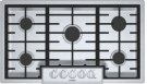 """800 Series, 36"""" Gas Cooktop, 5 Burners, Stainless Steel Product Image"""