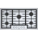 "Bosch800 Series, 36"" Gas Cooktop, 5 Burners, Stainless Steel"