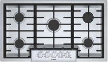 """800 Series, 36"""" Gas Cooktop, 5 Burners, Stainless Steel"""