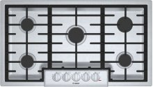 "800 Series, 36"" Gas Cooktop, 5 Burners, Stainless Steel"