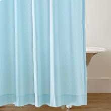 Diamond Lattice Shower Curtain, LAKE, ONE