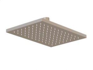 "8"" Rectangle Shower Rainhead - Brushed Nickel Product Image"