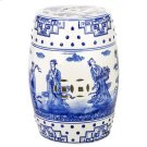 Ocean Jewel Chinoiserie Garden Stool - Blue Product Image