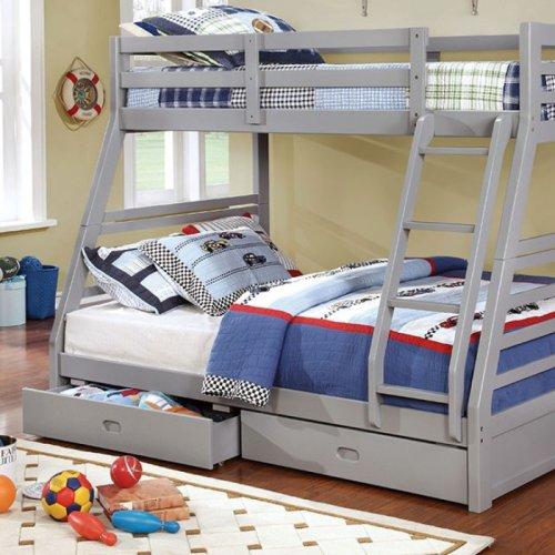 California Iii Twin/full Bunk Bed, Gray
