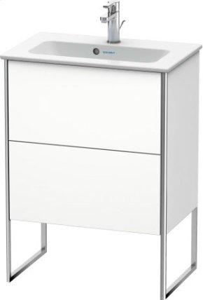 Vanity Unit Floorstanding Compact, White Matt