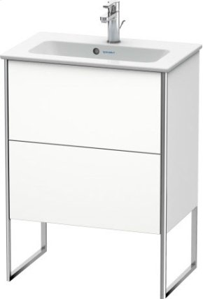 Vanity Unit Floorstanding Compact, White Matt