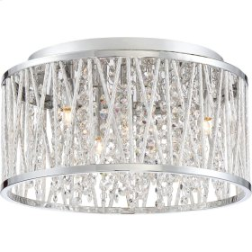 Crystal Cove Flush Mount in Polished Chrome