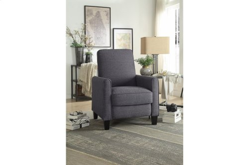 Push Back Reclining Chair, Gray