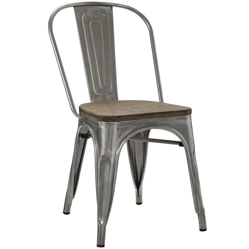 Promenade Bamboo Side Chair in GunMetal