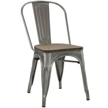 Promenade Bamboo Steel Dining Side Chair in GunMetal
