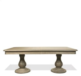 Corinne Dining Table Top 231 lbs Sun-drenched Acacia finish
